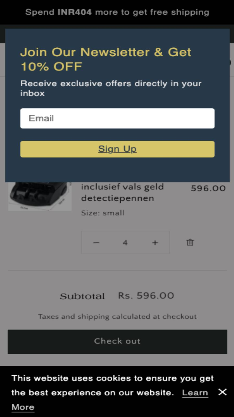 Mobile popup