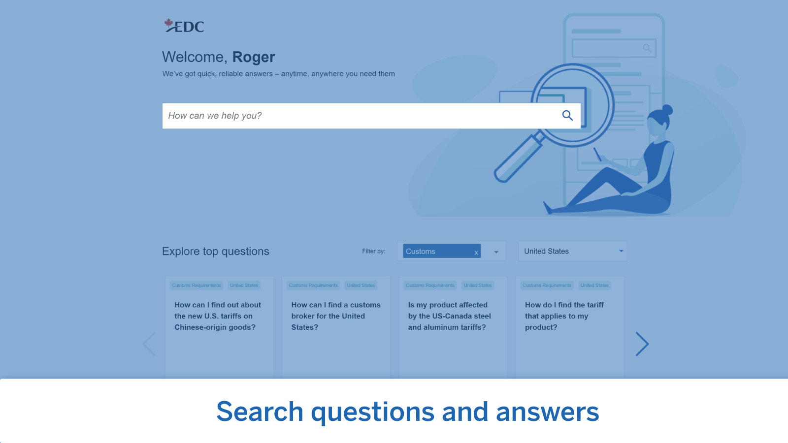 Search questions and answers