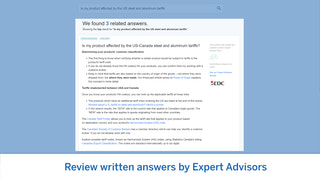 Review written answers by Expert Advisors