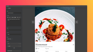Appetizing popup images with tons of info to display
