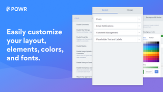Easily customize your comments app's fonts, colors and layout.