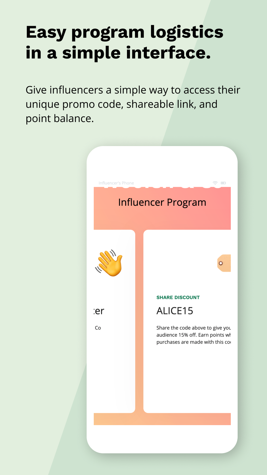 Communicate program details easily with a simple interface
