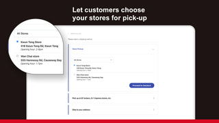 Select your store as pickup location