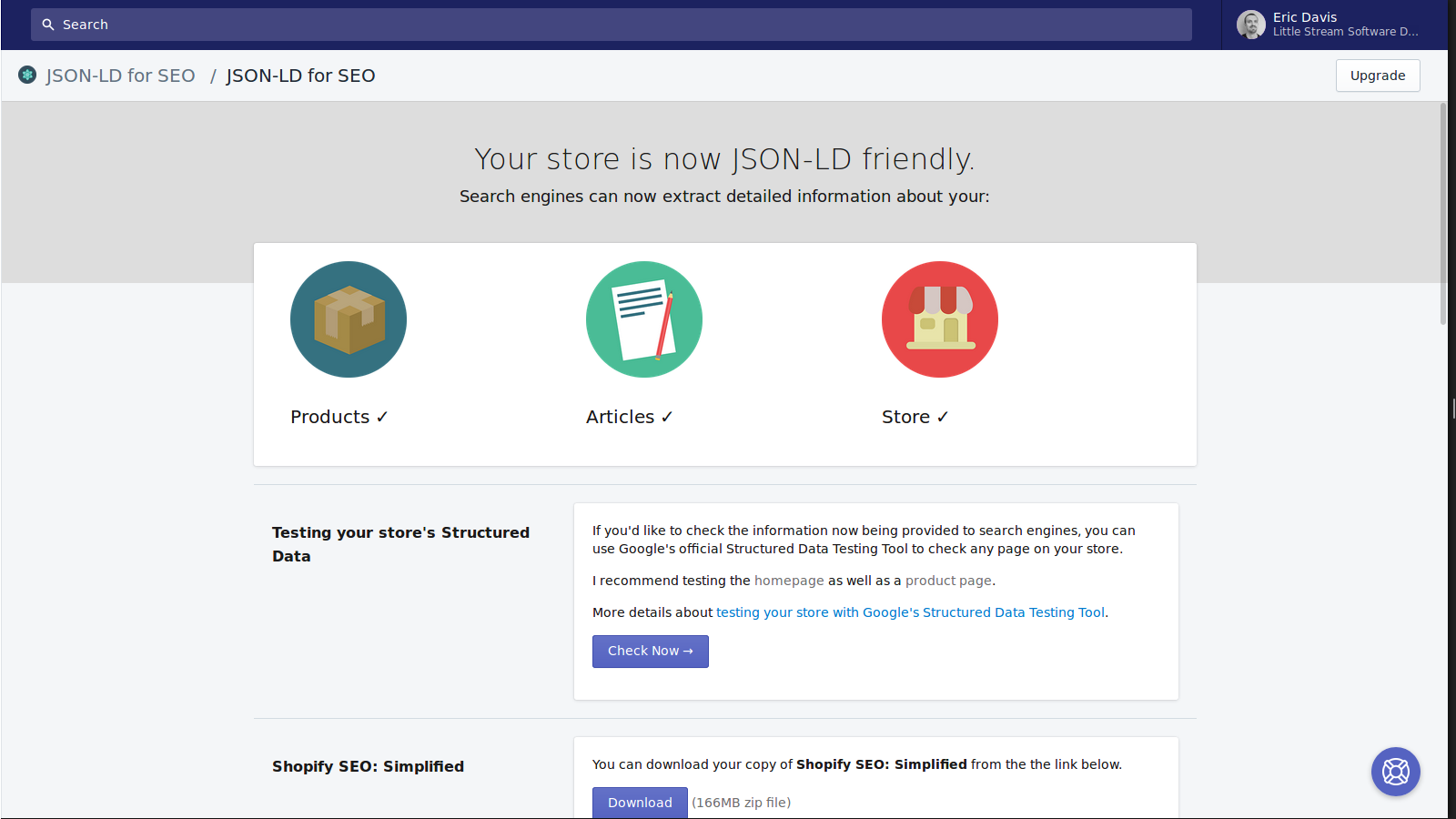 JSON-LD for SEO app page