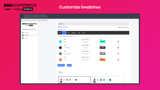 Color Swatches App Shopify