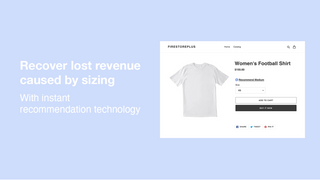 Instant size recommendations