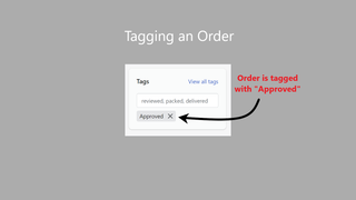 image of an order after being tagged