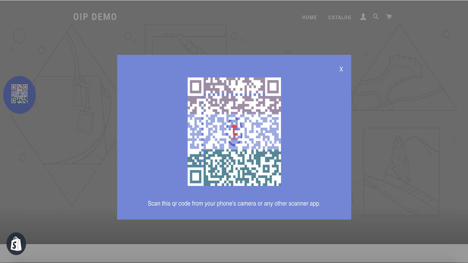 OIP QR code for the page