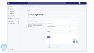 Set max expected delivery days for each of your shipping method