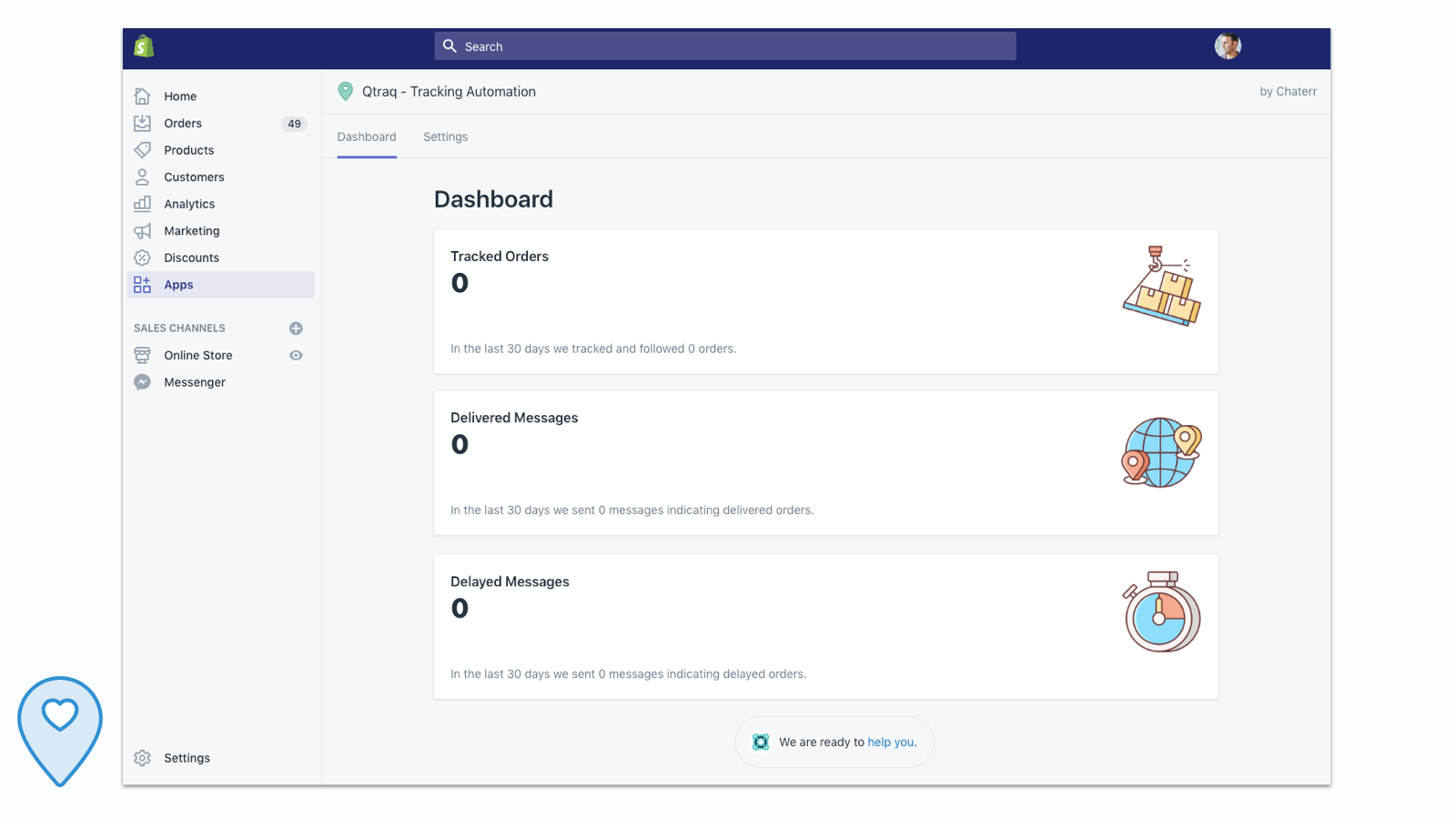 Dashboard - see how many emails we sent