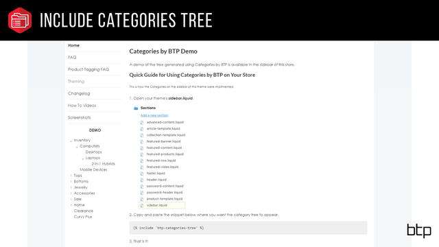 Include Categories Tree