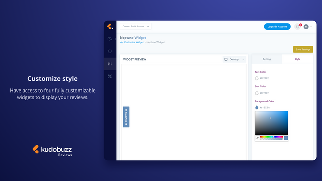 Customize review widgets to match your branding