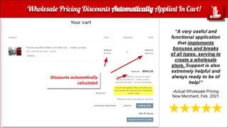 Wholesale Pricing Now Automatically Apply discounts in cart