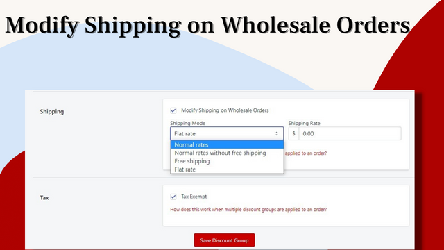 Modify Shipping on Wholesale Orders