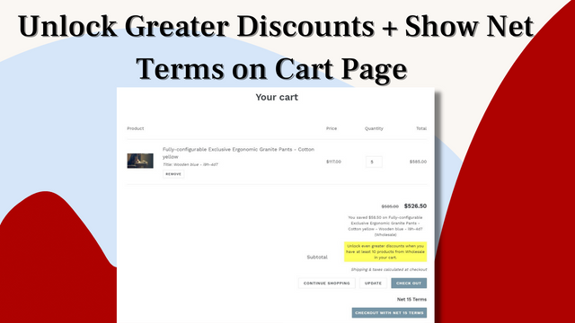 Embedded discount tables on product page for VIP & custom price