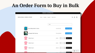 New Order Form for wholesale pricing to buy in bulk