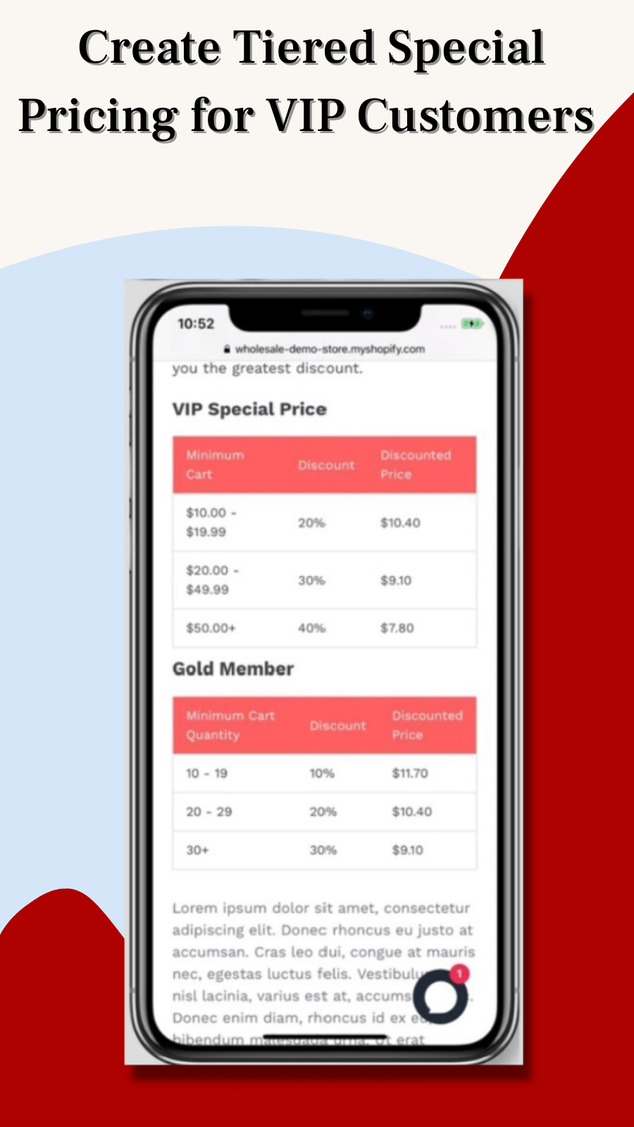 Create Tiered Special Pricing for VIP Customers