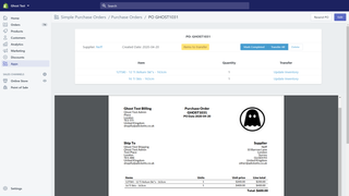 View Purchase Order Inventory Management
