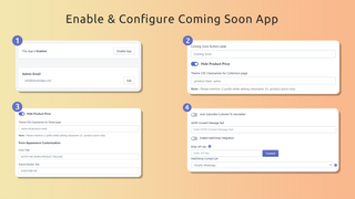Configure coming soon product