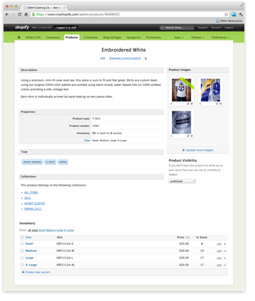 Online Store Builder Screenshot