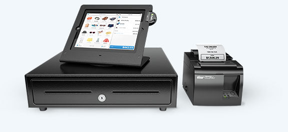 Shopify POS cardreader with credit card inserted