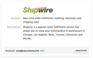 Fulfillment Services by Amazon Services, Shipwire, and Webgistix