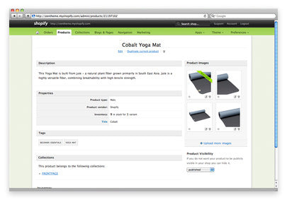 Screenshot of adding products in the Shopify admin