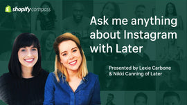 Thumbnail preview about Ask me anything about Instagram with Later