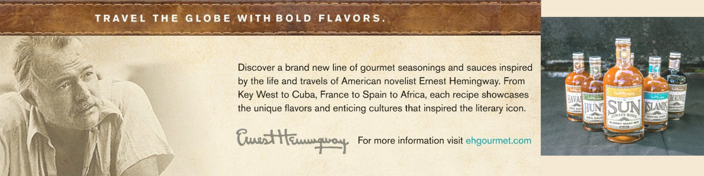 The Flavors of Ernest Hemingway