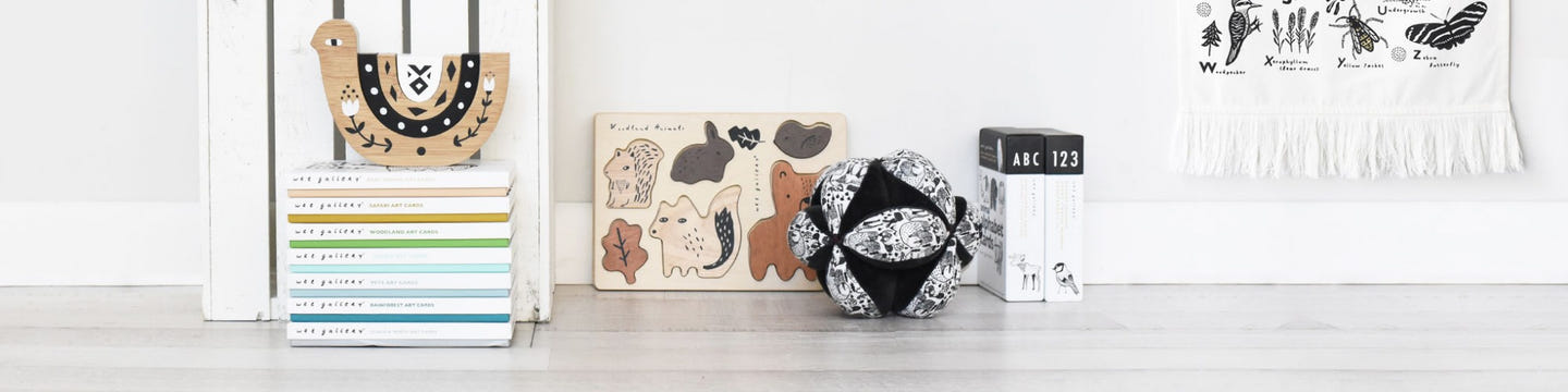 Wee Gallery | Eco-Friendly High-Contrast Newborn & Baby Toys