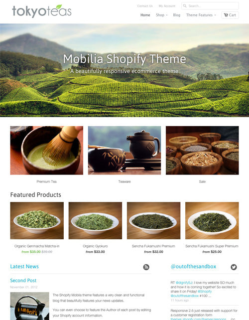 2013 year in review for Mobilia theme shopify