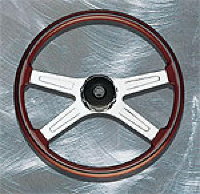 VIP 4 SPOKE CHROME/WOOD