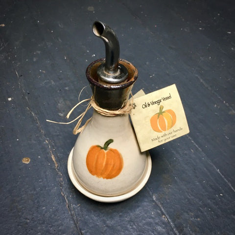 Pumpkin Olive Oil Decanter and Dipping Bowl