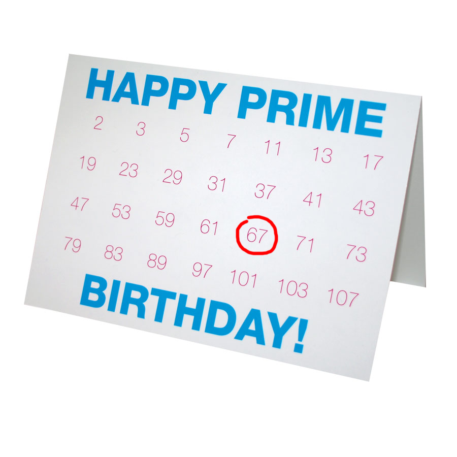 Happy Prime Birthday Card HungryRobot