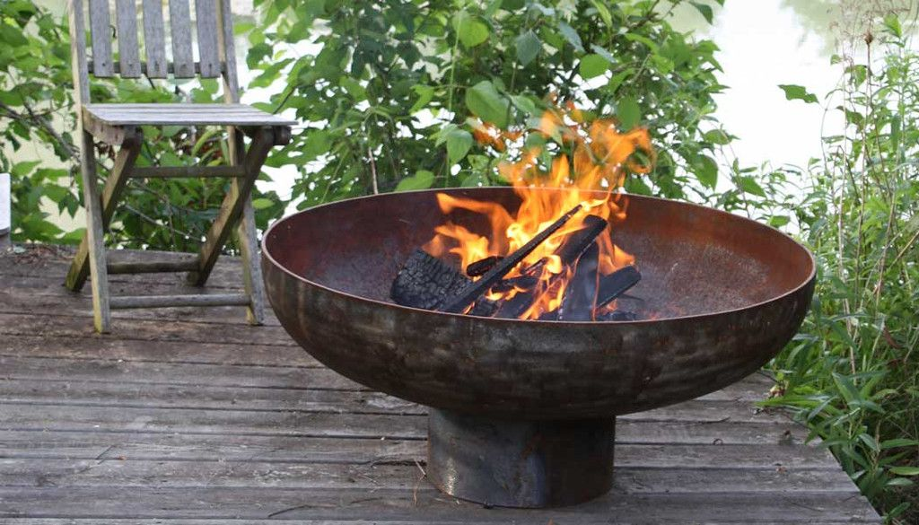 Big bowl o 39 zen sculptural firebowl by john t unger for Hoguera jardin