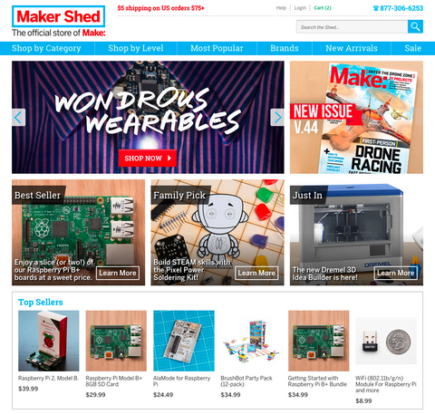 Maker Shed Screenshot