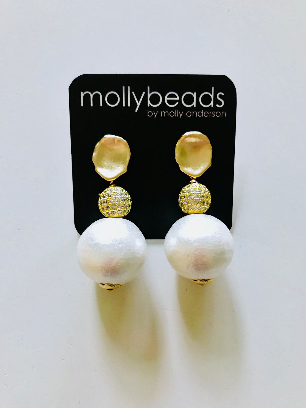 Pearl and Pave Drop Earrings