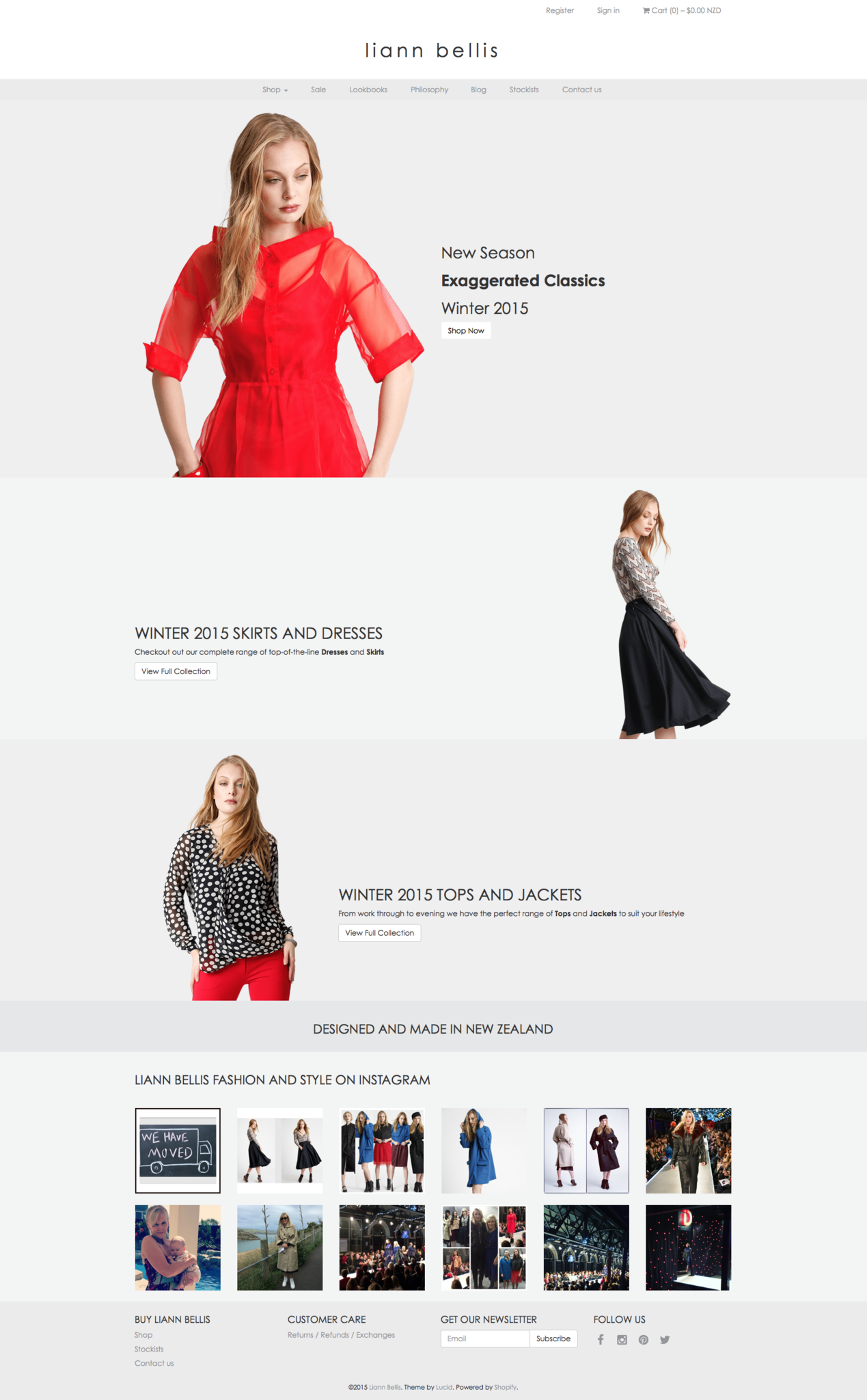 Liann Bellis Shopify site by Lucid