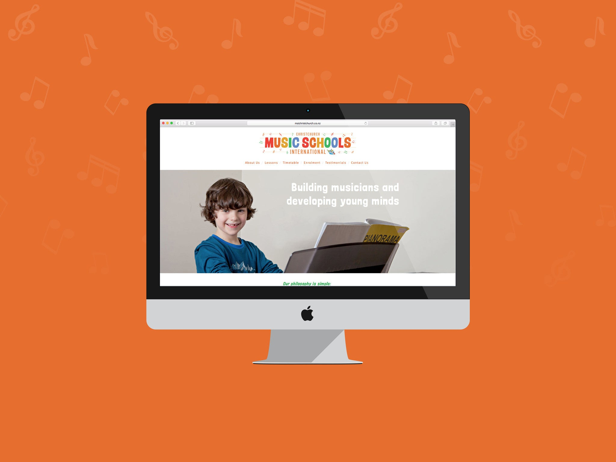 Music Schools International, Christchurch Squarespace site