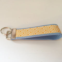 Gold Honeycomb Key Fob
