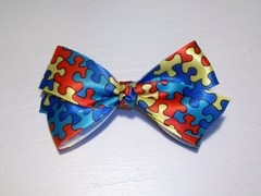 Autism Awareness Bow