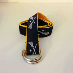 Gold & Navy Lacrosse Belt