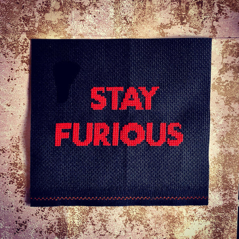 Stay Furious Cross Stitch Chart | Claire Brown XStitch