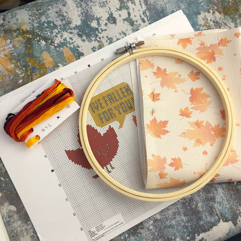 I've Fallen For You Cross Stitch Kit | Claire Brown XStitch