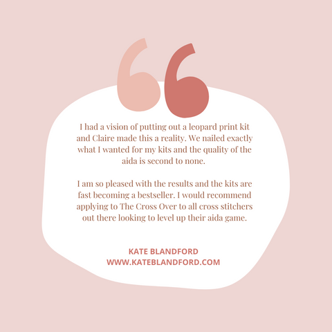Kate Blandford Quote | Claire Brown XStitch