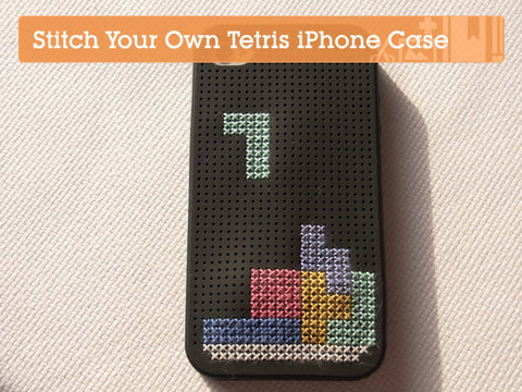 Stitch Your Own Tetris Phone Cover Tutorial | Claire Brown XStitch