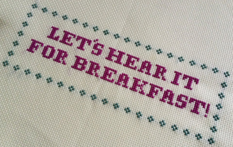 Let's Hear It For Breakfast Free Cross Stitch Chart | Claire Brown XStitch