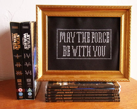 May The Fourth Star Wars Free Cross Stitch Tutorial | Claire Brown XStitch
