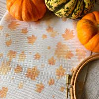 Autumn Leaves Printed Cross Stitch Aida & Evenweave Fabric