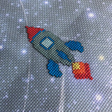 Outer Space 14 Count Printed Cross Stitch Aida